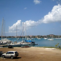 Marina in der Prickley Bay