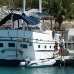 unsere Beibootfähre in der Marina