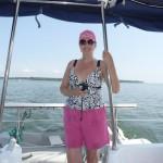 Sue bei uns am Boot