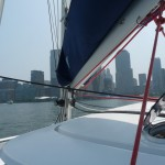unter Segeln den Hudson River hinauf