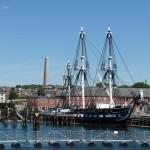 ein altes Segelkriegsschiff die USS Constitution