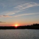den Sonnenuntergang können wir nicht ganz entspannt genießen