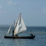 rasch wird aus dem Kanu ein Segelboot