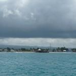 drohende Wolken über der Stadt