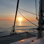windloser Sonnenuntergang