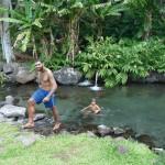 Insel mit Schwimmbadl
