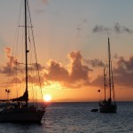 letzter Sonnenuntergang in den Marquesas