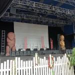 die Bühne bei Tag