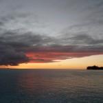 beeindruckender Sonnenuntergang
