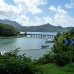 die Brücke verbindet Huanie Nui und Iti