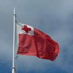 die Tonganische Flagge