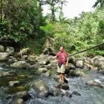 Flussquerung mit Sicherheitsseil