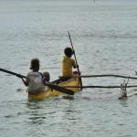 in Vanuatu wird gepaddelt