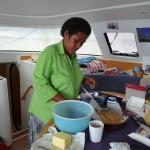 in der Küche wird gearbeitet