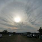 eine Aureole um die Sonne