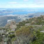 Hobart liegt uns zu Füßen