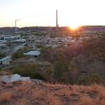 die Mine bei Sonnenuntergang