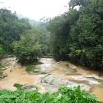 der Regen färbt die Flüsse braun