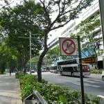 Straße überqueren verboten